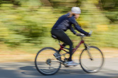 Bicycle on a Bike Path Royalty Free Stock Photos
