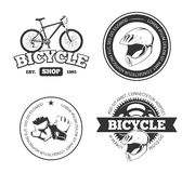 Bicycle, bike vintage vector labels, emblems, logos, badges Royalty Free Stock Photo