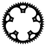 Bicycle black crank - Vector drawing. Vector illustration of a bicycle black crank made of aluminium or steel royalty free illustration