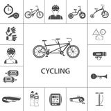 Bicycle Black Icons Set Royalty Free Stock Images