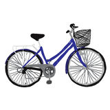 Bicycle blue royalty free stock images