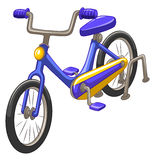 Bicycle with blue frame vector illustration