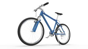 Bicycle Blue. On white background royalty free stock image