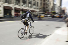 Free Bicycle Blur New York City 2 Royalty Free Stock Photography - 33284457