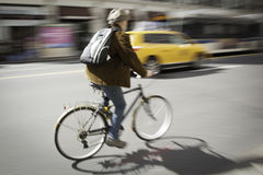 Bicycle Blur New York City royalty free stock photography
