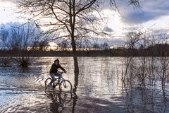 Bicycle boat during the flood