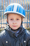 The bicycle boy Stock Images