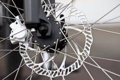 Bicycle brake. A disc bicycle brake in detail Royalty Free Stock Image