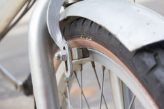Bicycle Brakes. Close up old Royalty Free Stock Image