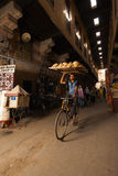 Bicycle Bread Delivery Souq Carrying Head Royalty Free Stock Images