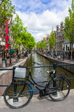 Bicycle on a bridge in Amsterdam Royalty Free Stock Photo