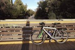 Bicycle on bridge Stock Photos
