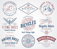 Bicycle builders set 2 colored Stock Image