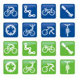 Bicycle buttons icons Royalty Free Stock Image