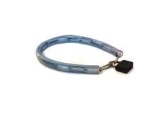 ฺBicycle cable chain key lock. Bicycle cable chain key lock on white background Royalty Free Stock Photo