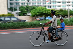 Bicycle on Car free day Stock Photos