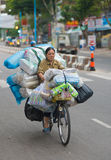 Bicycle cargo transportation in Vietnam Stock Photography