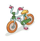 Bicycle cartoon Royalty Free Stock Images