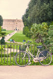 Bicycle in Caserta Royal Palace Stock Images