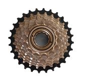 Bicycle cassette. On white background royalty free stock images