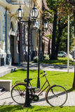 Bicycle in the centre of Riga Stock Image