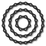 Bicycle chain. The bicycle chain vector illustration royalty free illustration