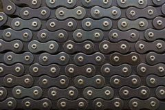 Bicycle chain. Cycle chain in the grease can be used as a background Stock Photo