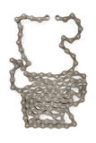 Bicycle chain isolated on white. With clipping path Stock Images