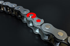 Bicycle Chain Missing Link Royalty Free Stock Images