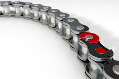 Bicycle Chain Missing Link Royalty Free Stock Photos
