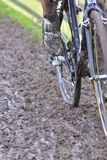 Bicycle chain with mud in a race Stock Photo