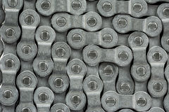 A bicycle chain pattern. A pattern formed by the bicycle chain Stock Photo