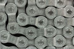 A bicycle chain pattern. A pattern formed by the bicycle chain Stock Photography