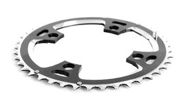 Bicycle chain ring. On white background Royalty Free Stock Photo