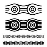 Bicycle chain seamless silhouettes Stock Image