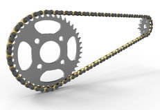 Bicycle chain sprocket transmission Stock Photo