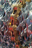 Bicycle chain on sprockets Stock Photography