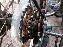 Bicycle Chain Sprockets Stock Image