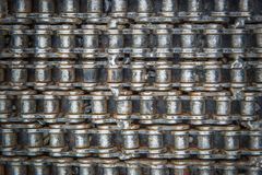Bicycle chain texture abstract metal for background.  Stock Photos