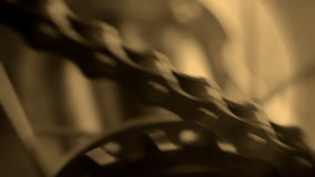 Bicycle, chain transfer. stock footage