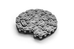 Bicycle chain. On white background Stock Images