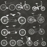 Bicycle on the chalk Royalty Free Stock Photos