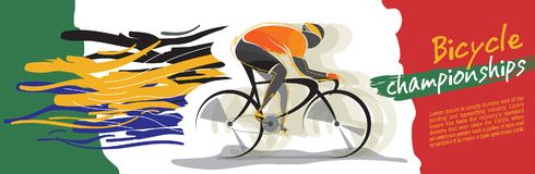 Bicycle championship vector royalty free stock photography