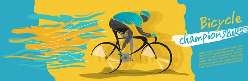 Bicycle championship vector stock images