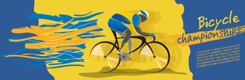 Bicycle championship vector. Design of a stylish background for the bicycle championship stock illustration