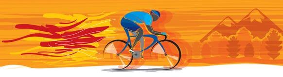 Bicycle championship vector royalty free stock photos