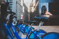 Bicycle in City Stock Image