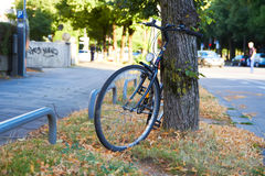 Bicycle in the City Stock Photography
