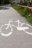 Bicycle city path. City bike path asphalt area stock images
