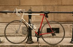 Bicycle in city street Stock Image